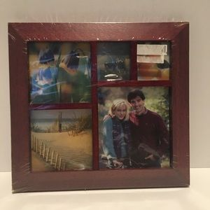 Wood Desktop Collage Photo Frame